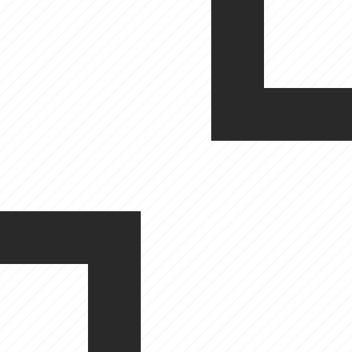 collapse, corners, edges, frame, reduce, shrink icon