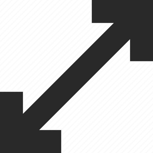 arrows, corners, enlarge, extend, larger icon