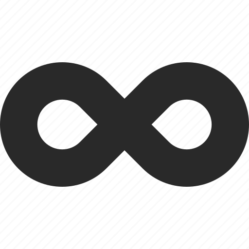 continuous, endless, eternity, infinity, loop, motion icon