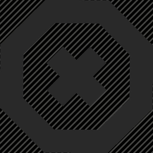 alert, critical, error, permission, rejected, unavailable icon