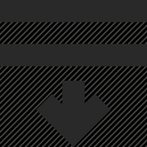 align, bottom, design, move, paragraph, style, text icon
