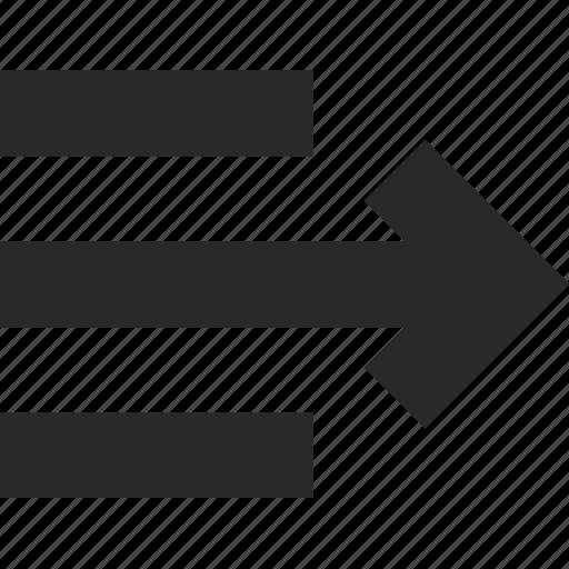 align, design, move, paragraph, right, style, text icon