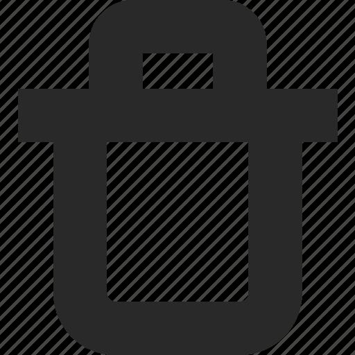 bin, delete, dispose, remove, trash, waste icon