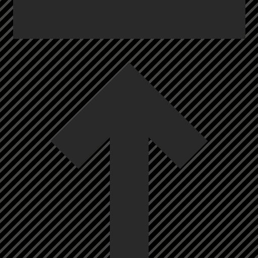 arrow, file, internet, push, transfer, upload icon