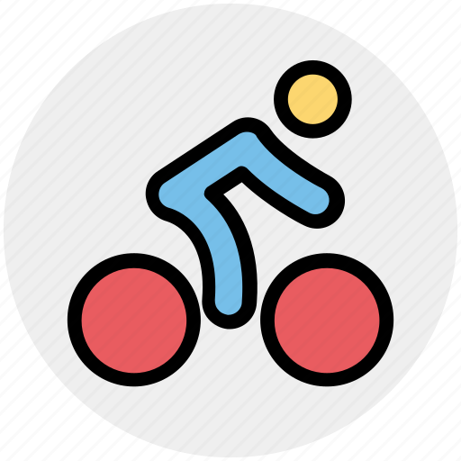 bicycle, cycling, exercise, fitness, man, ride, transport icon