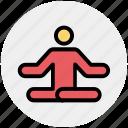 yoga, relax, sitting, focus, meditate, meditation, man