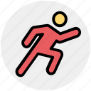 active, athlete, exercise, fitness, man, runner, running icon