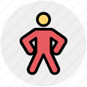 character, fighter, judo, man, miffed, person, stretching icon