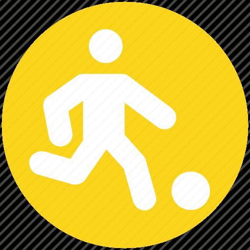 football, football player, man playing football, player, playing football, sports icon
