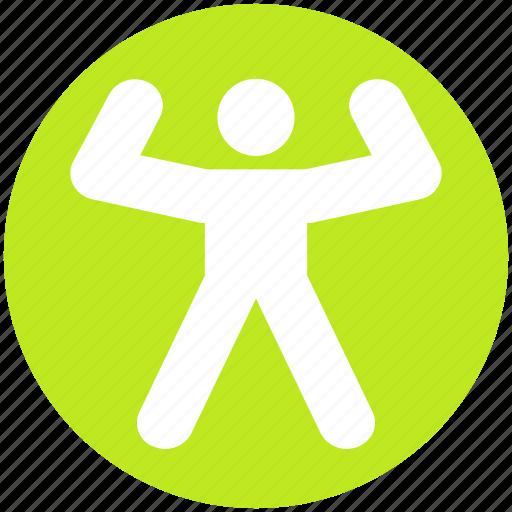 bodybuilder, exercise, gym, human, man, people, sport icon