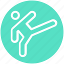 taekwondo, olympic, judo, karate, activity, sport, man icon