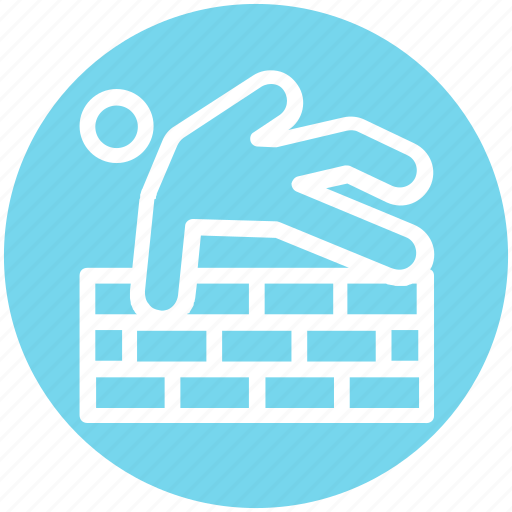 accident, brick, elderly, fall down, fell down, man, staircases icon