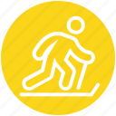 ice skater, ice skating, ice sports, skiing, ski jump, ski, skier icon