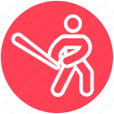 baseball, baseball bat, baseball player, bat, glove, sports, sportsman icon