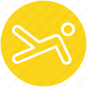 core, leg, person, human, fitness, plank, exercise icon