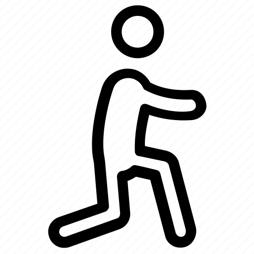 exercise, fitness, reverse lunge, stretching, workout icon