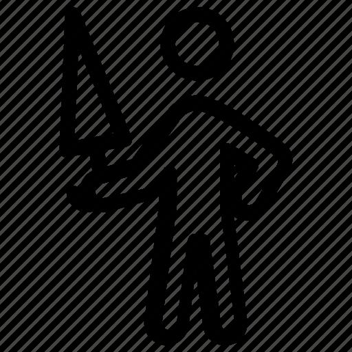 carpenter, handyman, labour, saw, worker icon