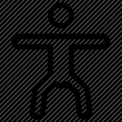 athlete, exercise, stretching, workout, yoga icon
