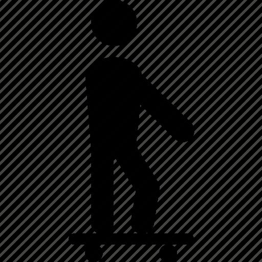 skateboard, skateboarding, skates, skating, sports icon