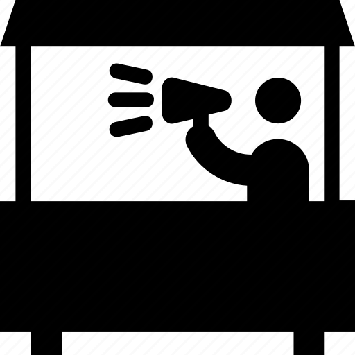 advertising, announcement, announcer, commentator, megaphone icon
