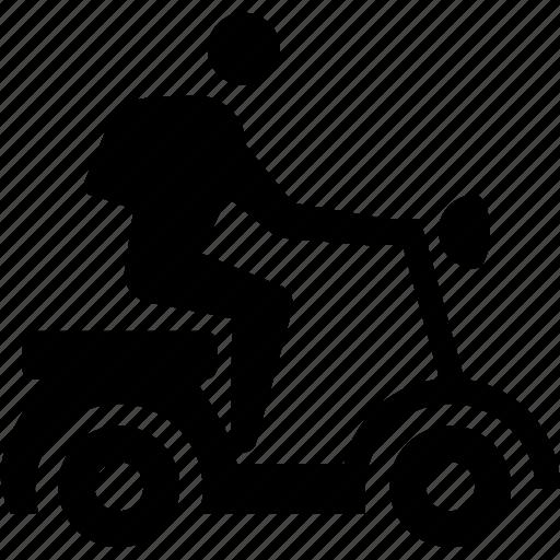 biker, motorcycle, scooter, travel, vespa icon