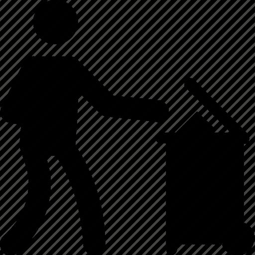 Dustbin, garbage, throwing garbage, trash, trashing icon - Download on Iconfinder
