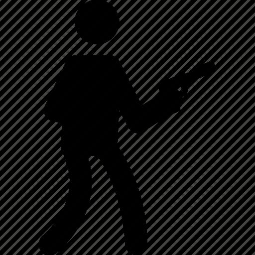 gun, gun holding, handgun, pistol, weapon icon