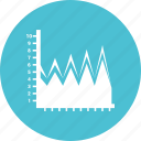 analytics, business chart, growth chart, infograph icon