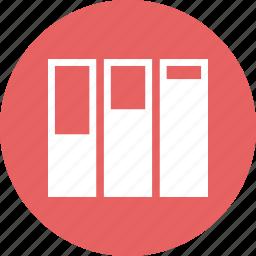 bars, data, graph, report icon