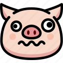 dizzy, emoji, emotion, expression, face, feeling, pig