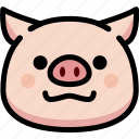 emoji, emotion, expression, face, feeling, grinning, pig icon