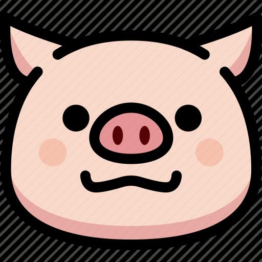 emoji, emotion, expression, face, feeling, grinning, pig icon