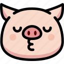 emoji, emotion, expression, face, feeling, kiss, pig icon