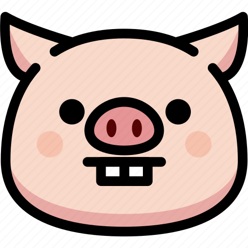 emoji, emotion, expression, face, feeling, nerd, pig icon