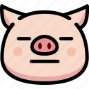 emoji, emotion, expression, face, feeling, neutral, pig