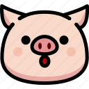 emoji, emotion, expression, face, feeling, open mouth, pig