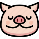 emoji, emotion, expression, face, feeling, peace, pig