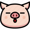 emoji, emotion, expression, face, feeling, pig, sleeping