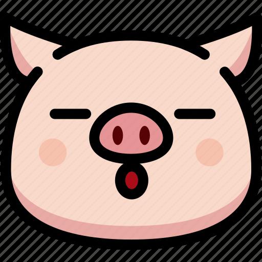 emoji, emotion, expression, face, feeling, pig, sleeping icon