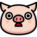 emoji, emotion, expression, face, feeling, pig, stunning icon