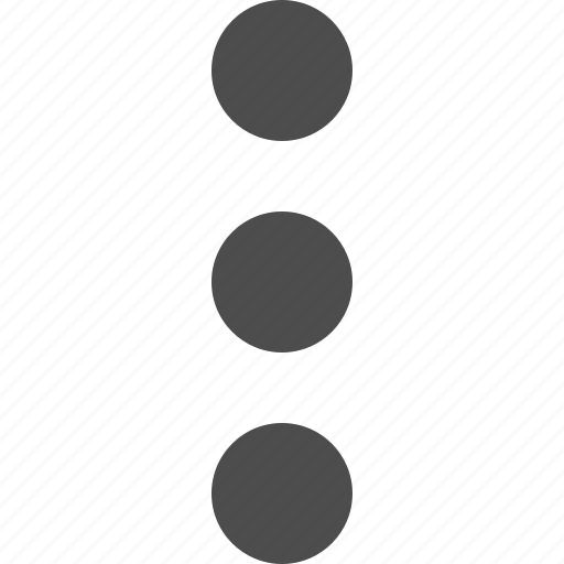 dots, extra, menu, more, vertical icon