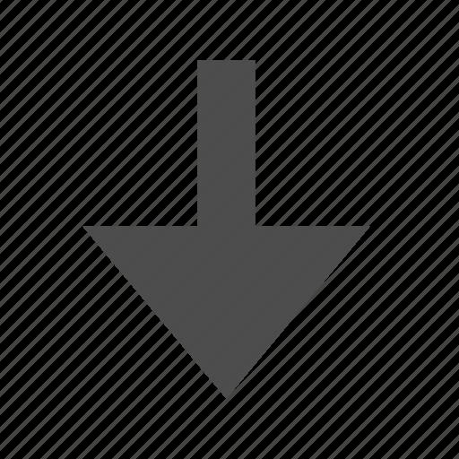 arrow, below, direction, down icon