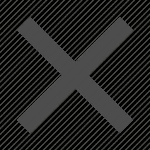 close, delete, exit, remove, x icon