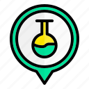 flask, chemistry, laboratory, location
