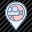 cinema, location, movie, pin, place icon