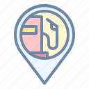 gas, location, petrol, pin, place, station icon