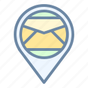 location, mail, map, office, pin, place, post icon