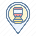 location, pin, place, station, train icon