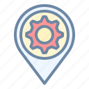 garage, location, pin, repair, workshop icon