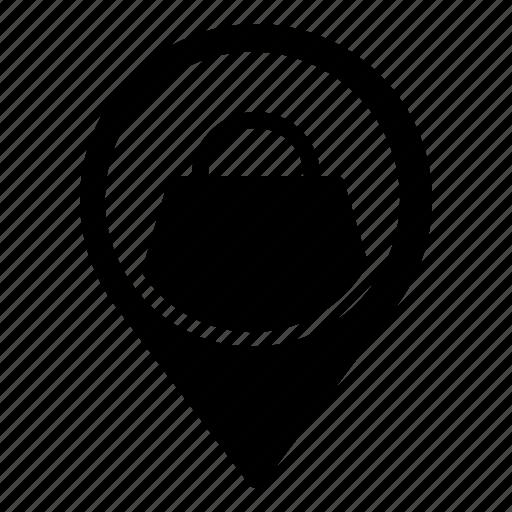 location, mall, market, pin, shop, store icon